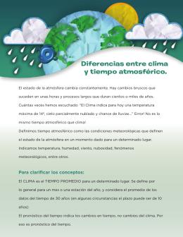 Diferencias entre clima y tiempo atmosférico