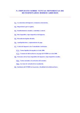 9. impuesto sobre ventas minoristas de determinados hidrocarburos