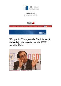 CM& LA NOTICIA 11 de septiembre del 2013