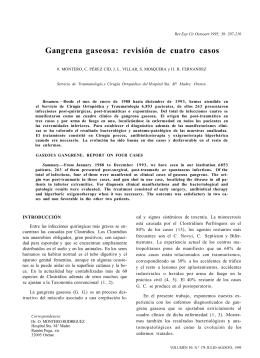 Gangrena gaseosa: revisión de cuatro casos