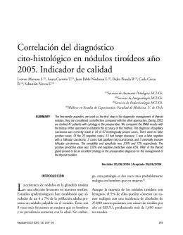 Correlación del diagnóstico cito-histológico en nódulos tiroídeos