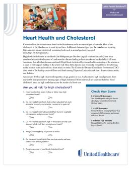 La Salud del Corazón y el Colesterol
