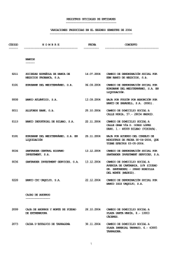 REGISTROS OFICIALES DE ENTIDADES
