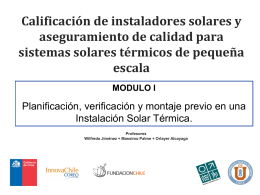 Reempadronamiento de colectores solares en la ciudad de