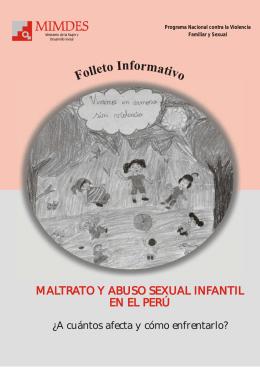 Maltrato y Abuso Sexual - Ministerio de la Mujer y Poblaciones
