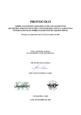 PROTOCOLO - Unidroit
