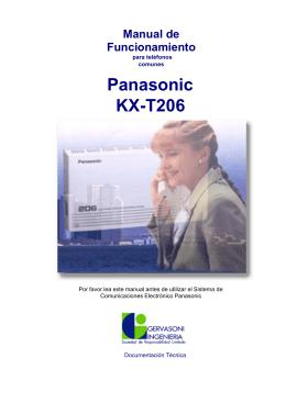 Panasonic KX-T206 - Gervasoni Ingeniería SRL