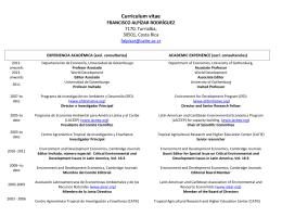 Curriculum vitae - EfD
