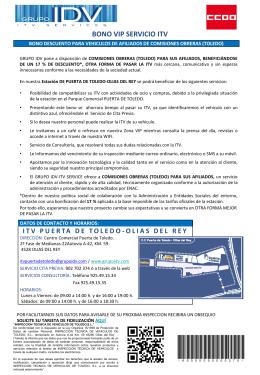 Bono (para imprimir) servicio ITV PUERTA DE TOLEDO-CCOO