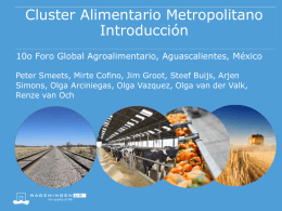 Cluster Alimentario Metropolitano Introducción