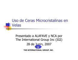 Uso de Ceras Microcristalinas en Velas
