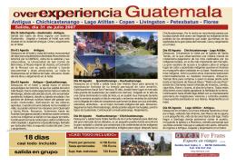 over experiencia Guatemala overexperiencia Guatemala