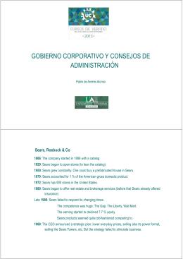 GOBIERNO CORPORATIVO Y CONSEJOS DE ADMINISTRACIÓN