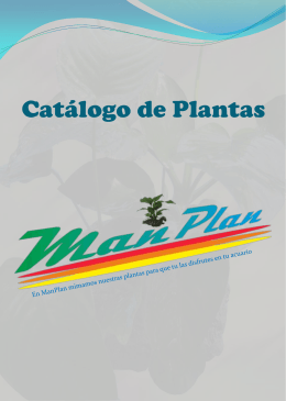 Catálogo de Plantas