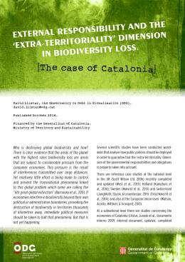 [The case of Catalonia] - Observatori del Deute en la Globalització