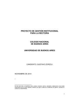 Proyecto Pedagógico Institucional - Colegio Nacional de Buenos Aires