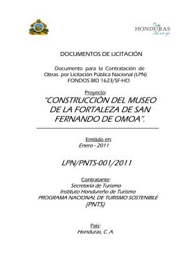 """""""construcciòn del museo de la fortaleza de san fernando de omoa""""."""