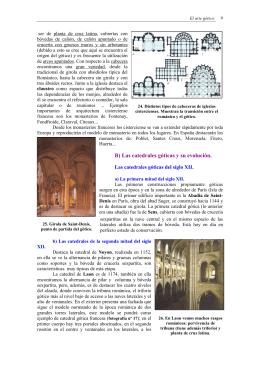 B) Las catedrales góticas y su evolución.