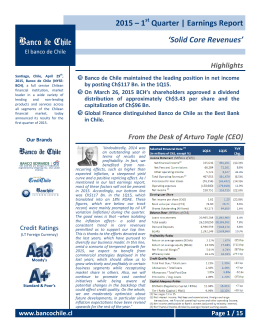 2015 – 1 Quarter | Earnings Report `Solid Core