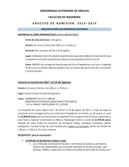 UNIVERSIDAD AUTONOMA DE SINALOA FACULTAD DE