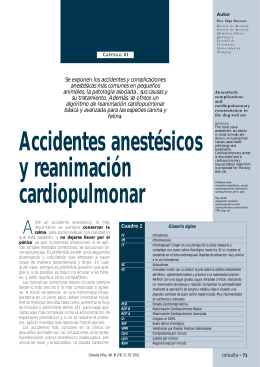 Accidentes anestésicos y RCP - cirugia veterinaria