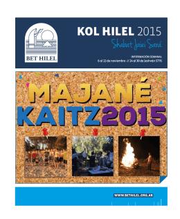 Shabat Jaiei Sara KOL HILEL 2015 ,