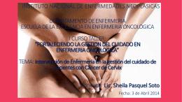 Intervención de Enfermeria en la gestión del cuidado de pacientes