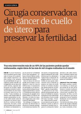 Cirugía conservadora del cáncer de cuello de útero para preservar