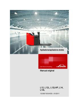 Apiladora/apiladora doble Manual original L12, L12L