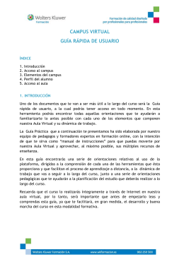 CAMPUS VIRTUAL GUÍA RÁPIDA DE USUARIO