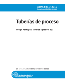 Tuberías de proceso - American Society of Mechanical Engineers