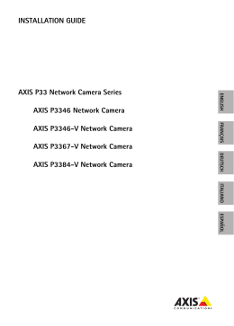 AXIS P33/P33-V Network Camera Series Installation Guide