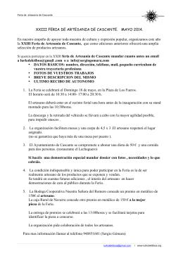 XXIII FERIA DE ARTESANIA DE CASCANTE. MAYO 2014. En
