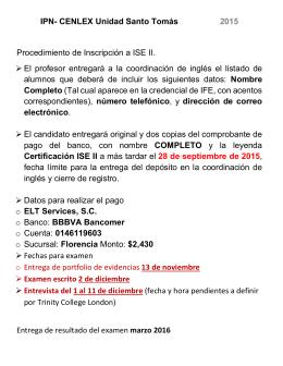 IPN- CENLEX Unidad Santo Tomás 2015 Procedimiento de