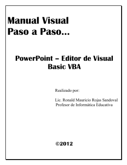 Manual Visual Paso a Paso… PowerPoint – Editor de Visual Basic