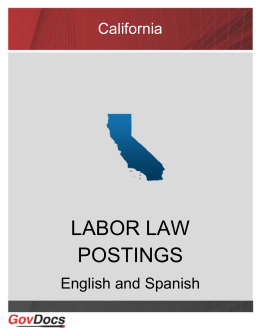 California Labor Law Postings