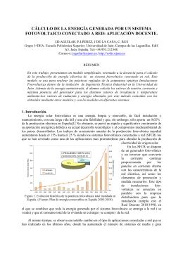 cálculo de la energía generada por un sistema fotovoltaico