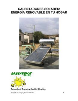 Calentadores solares: energía renovable en tu hogar
