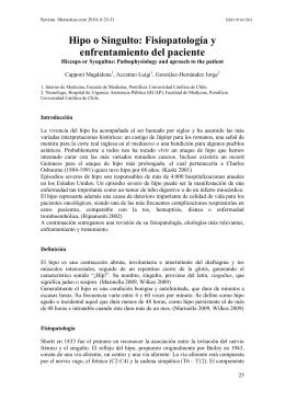 25-31 Hipo o Singulto: Fisiopatología y enfrentamiento