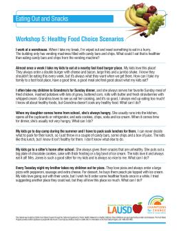 Casos Sobre La Elección De Una Alimentación Saludable