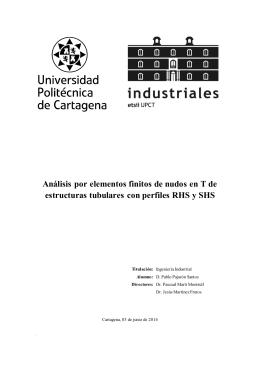 Análisis por elementos finitos de nudos en T de estructuras