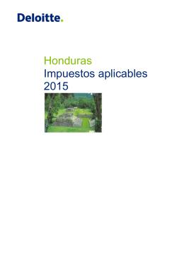 Honduras Impuestos aplicables 2015