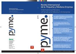 Revista Internacional de la Pequeña y Mediana Empresa