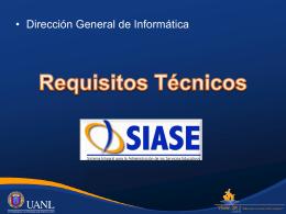 Requisitos Técnicos para SIASE 2014