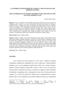 A contribuição do bushidô de nitobe na criação do estado moderno