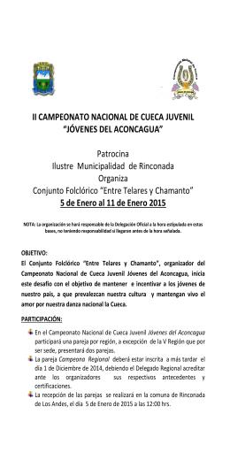 """II CAMPEONATO NACIONAL DE CUECA JUVENIL """"JÓVENES DEL"""