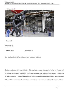 Zidane inmortal - Últimas Noticias