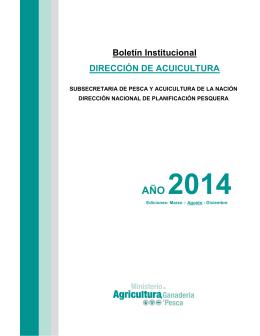 Boletín Dirección de Acuicultura Agosto 2014