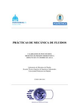 PRÁCTICAS DE MECÁNICA DE FLUIDOS - AulaWeb