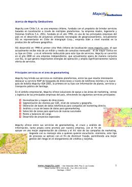 1 Acerca de Mapcity Geobusiness